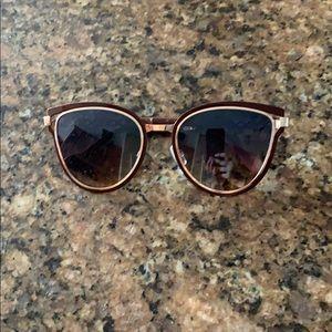 Jessica Simpson Glasses (burgundy/rose gold metal)